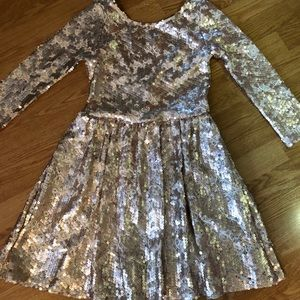 XS Gianni Bini Gold Cocktail Dress